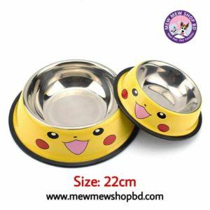 Pikachu cat & dog food bowl