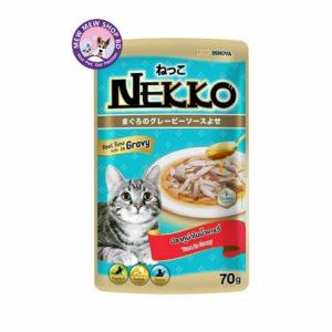 Nekko Adult Pouch Wet Cat Food Tuna In Gravy