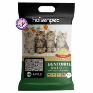 Haisenpet Bentonite Cat Litter 5L - Apple