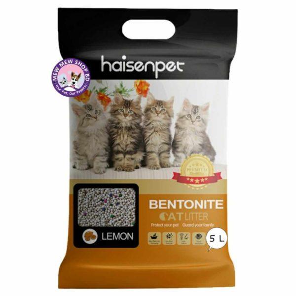 Haisenpet Bentonite Cat Litter 5L - Lemon