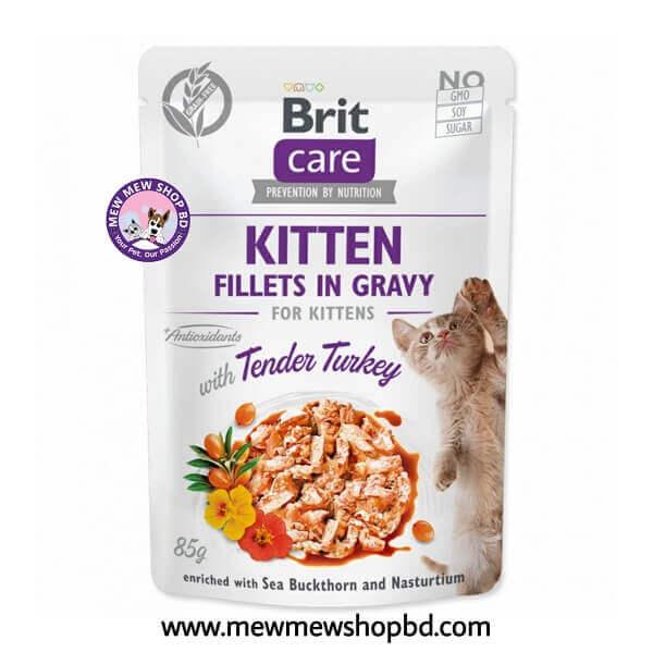 Brit Care Cat Pouch KITTEN - Tender Turkey in Gravy