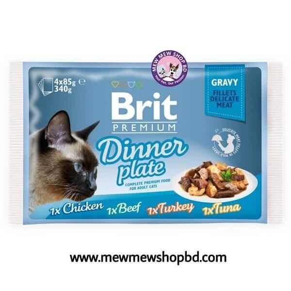 Brit Premium Cat Pouch Dinner Plate Gravy